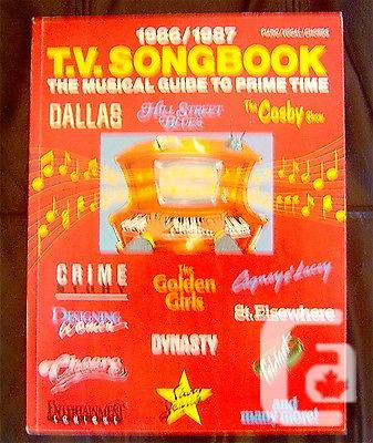 US$21 T.V. songbook 1986-1987 - piano/vocal/chords