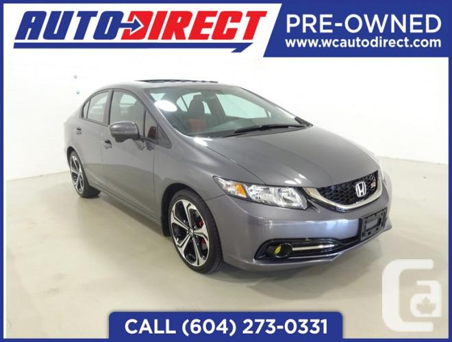 us 2015 honda civic si for sale in richmond british columbia classifieds. Black Bedroom Furniture Sets. Home Design Ideas