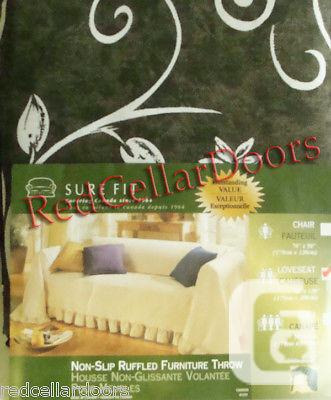 US$38.50 New Sure Fit Unfitted Loveseat Throw in Olive