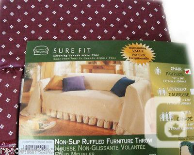 US$38 New Sure Fit Non-Slip One Piece Throw Slipcover