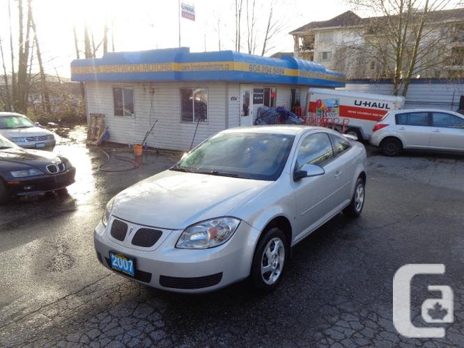us 2007 pontiac g5 2dr cpe for sale in burnaby british. Black Bedroom Furniture Sets. Home Design Ideas