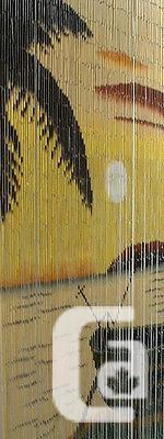 US$40.99 Sunset Bamboo Beaded Hanging Curtain Screen