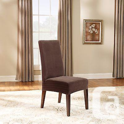 US$40 New~ 2 Sure Fit Pinstripe Dining Chair Cover -