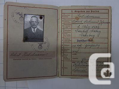 US$49.99 WW2 German Wehrpass military pass document