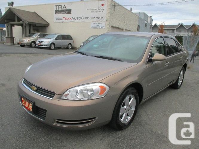 Us 2006 chevrolet impala lt automatic loaded low kilometers sunroof for sale in port coquitlam