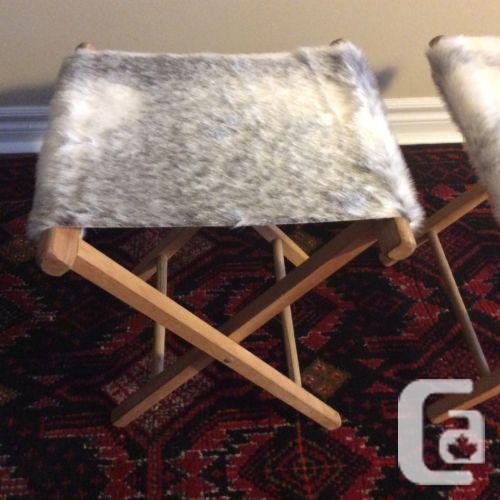 US$60 faux hide camp stool