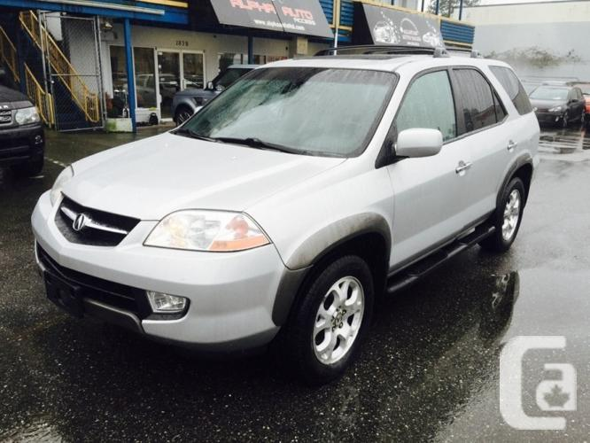 US 2002 Acura MDX , SUV Touring Pkg for sale in Vancouver, British Columbia Classifieds ...