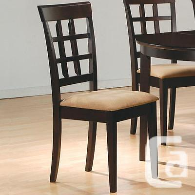 US$99.99 NEW Cappuccino Wheat Back Dining Chairs by