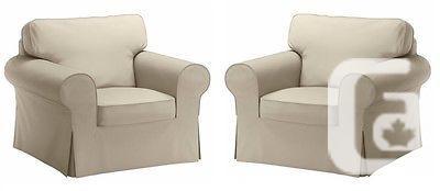US$99 IKEA EKTORP - (2) Slipcovers for Armchair