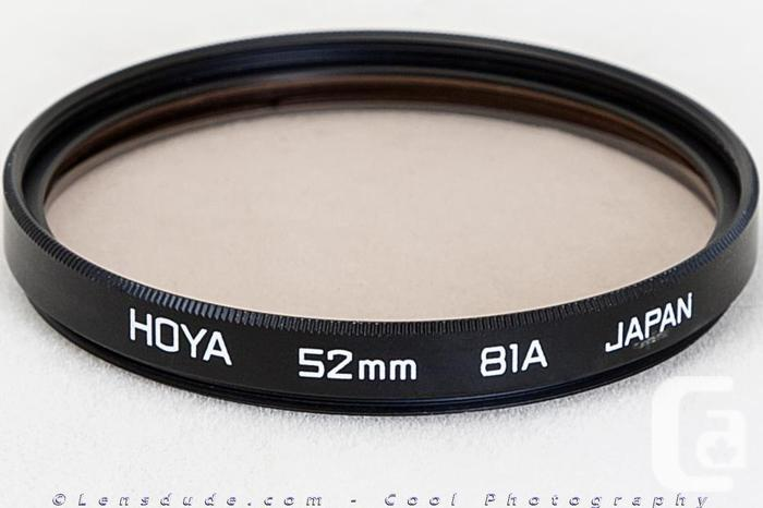 Various Filters for Lenses with 52mm Threads