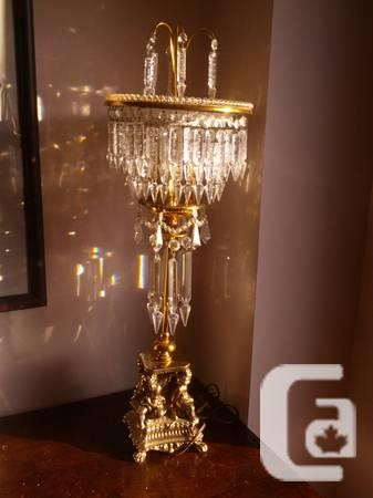 Victorian style chandelier table lamp for sale in toronto ontario victorian style chandelier table lamp 450 mozeypictures Choice Image