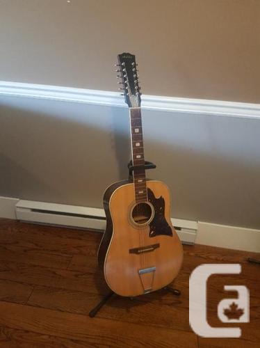Vintage 1980s Audition acoustic 12 string guitar