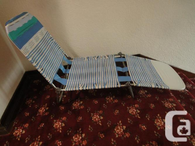 vintage chaise lounge folding chair