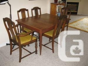Vintage Gibbard Pine Dining Fixed Desk 6 Seats