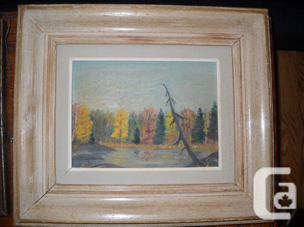 VINTAGE OIL ON CANVAS BOARD PAINTING
