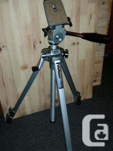 Vintage Quality Aluminum Velbon VG-3 Camera Tripod.