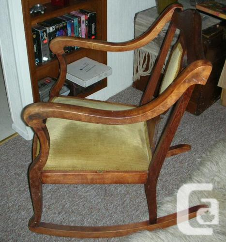 Vintage solid wood rocking chair for sale in victoria for Furniture victoria bc