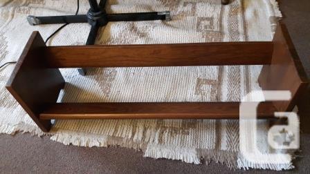 Vintage solid wood tabletop bookshelf