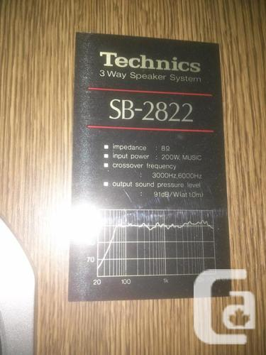 Vintage Technics Speakers SB-2822 3-Way