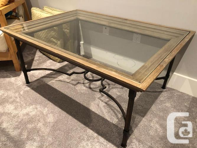 Magnificent Vintage Wood Glass And Steel Coffee Table In Nisku Alberta For Sale Lamtechconsult Wood Chair Design Ideas Lamtechconsultcom