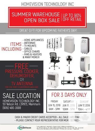 Warehouse Sale- A/C, Fan, Heater, Office Chair, Off Air
