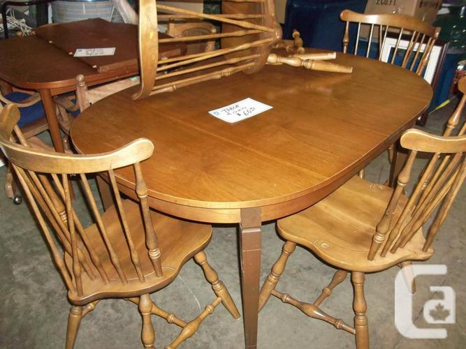 WAS Table 4 chairs for sale at ST Vincent de Paul Thrift ...