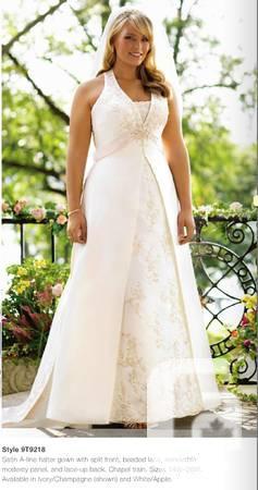 Wedding Gown - A line halter neck sleeveless ivory -