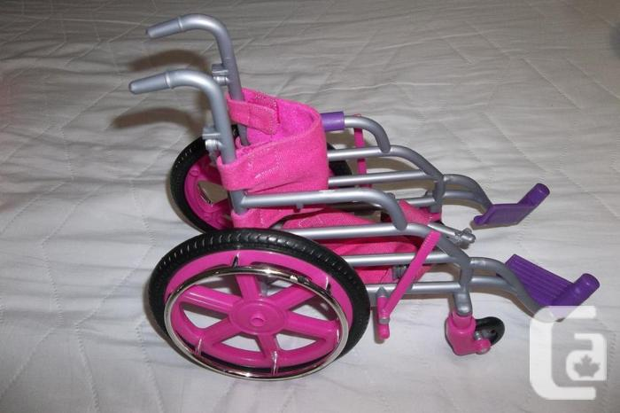Wheel chair for journey girl doll.Guitar & Microphone