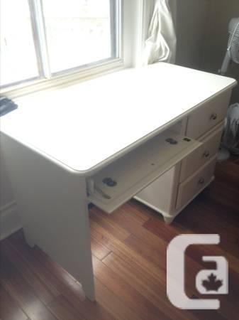White 3 Drawer Desk - $30