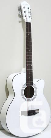 White Acoustic Guitar Completely New - $130
