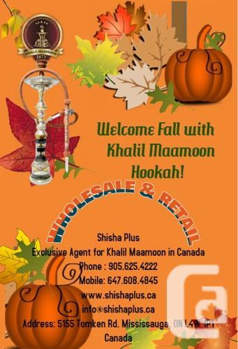 Wholesale Hookah Shisha Khalil Maamoon, Mississauga