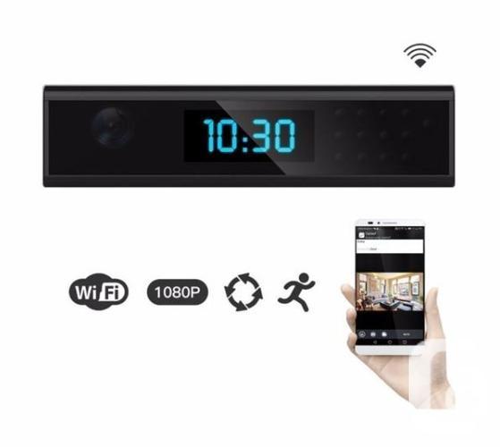 WIFI Clock Camera HD 1080P Night Vision Motion Detect