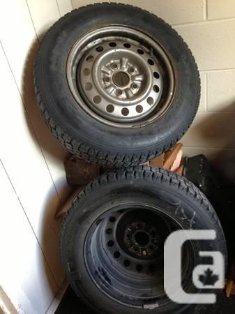 Winter studded tires 205/65 R15 - $250