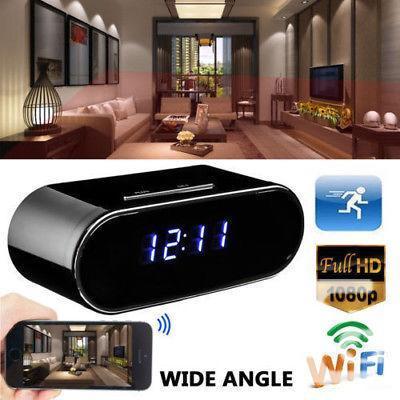 Wireless HD 720P Hidden Spy Camera Alarm Clock Motion