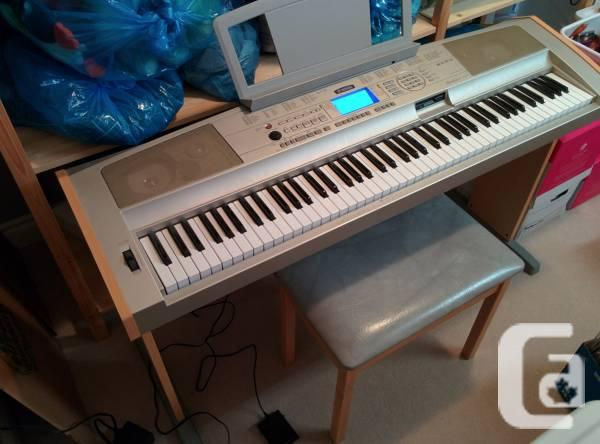 yamaha dgx 500 portable grand piano w wooden bench for