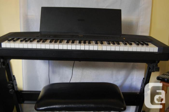 Yamaha keyboard ypp15 with stand and bench for sale in Keyboard stand and bench