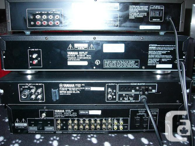 * Yamaha Pro Preamp/Tuner/CD Player & Technics EQ.
