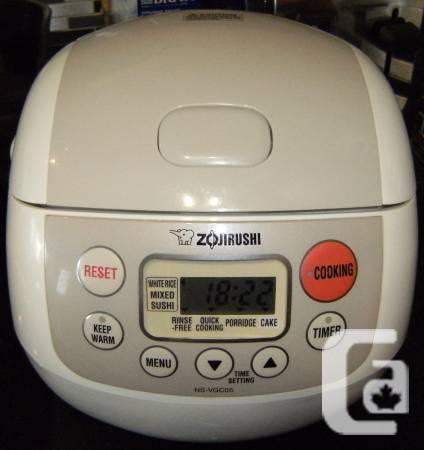 Zojirushi NS-VGC05 MICOM 3 Glass Rice Pot, Retail 8 -
