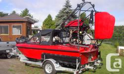 1000 Island Airboat, seating for 6,heated cockput,defrost, wipers, 1000 Floatation, Transport Canada approved ,self load and unload Galvinized Trailer ,mooring cover.  Check out the Videos at www.airboats.ca or call 1-