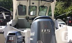 2013 Yamaha 115 & 2013 Yamaha 8 hp tilt. Lowrance - Elite - Chirp 7'' Hummingbird Depth Sounder Scotty H.P. Down Riggers Silver Streak H top New Captain Seats Much More. Call  Ask for Mike