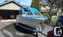 Mid 70s 18ft with Volvo AQ130 with Volvo 280leg Boat was last in water summer 2013 Newer 1/2 canvas 3000lb/gvw EZ Loader roller trailer like new Older stable boat, has always run without issues Tilt motor needs rebuild
