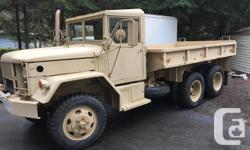 Make AM General Year 1965 Colour Tan Trans Manual 1965 M35A2 AM GENERAL 6x6 Multi-fuel engine burns anything combustible pretty much. Push button start. Fires right up no matter temperature. Had collectors plates. Insured and driven all summer. Removable