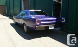 Make Plymouth Model Roadrunner Year 1969 Colour Purple Trans Automatic No tire kickers at this price the car will not last long. It needs an ebrake, and a speedo cable but it does run and drive! call or email only if you are serious and have cash. No