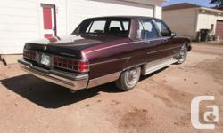 Make Pontiac Model Parisienne Year 1986 Colour Burgundy kms 237000 Trans Automatic V8 Engine, Automatic Transmission, Air Conditioning, Cruise Control. Always kept in the garage, never driven in winter or on gravel roads Mint condition inside and out.