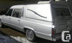 Make Cadillac Model Fleetwood Year 1992 Colour Silver kms 96000 Trans Automatic This Cadillac Hearse is in very good shape for the age and is fully loaded with all the usual options for the time. It is all original, has been stored inside the last decade