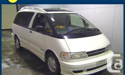 1999 Toyota Previa Estima Camper Minivan Beautiful White color! 7 seats, AWD Certified low mileage: 58,159KMs COMES WITH AN ODOMETER CERTIFICATE  NO ACCIDENTS VERY WELL MAINTAINED, CLEAN AND RELIABLE  2.4 L 4-cylinder engine  CALL GAVEN   CALL TODAY FOR A