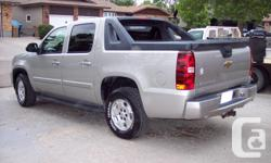 Make Chevrolet Model Avalanche 1500 Year 2007 Colour Silver kms 133000 Trans Automatic AM/FM Stereo, Air Conditioning, Alloy Wheels, Anti-Lock Brakes (ABS), CD Player, Dual Airbag, Intermittent Wipers, Keyless Entry, Power Mirrors, Power Seat, Power