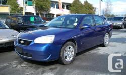 Make Chevrolet Model Malibu Year 2007 Colour Blue kms 291000 Trans Automatic 2007 Malibu LT1 Sedan Stock # 4243 Clover Auto Sales Ltd. 12491 King George Blvd. Surrey, B.C. V3V-3K3 Phone  DL 30648 2007 Chevrolet Malibu LT1 VIN 1G1ZT58F27F124243 Year 2007
