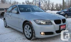 Make. BMW. Version. 3 Series. Year. 2011. Colour. Titanium Silver Metallic. kms. 79781. Trans. Automatic. WE FINANCE EVERYBODY!! GREAT ~ BAD OR NO CREDIT, WE WILL WORK TOUGH WITH OUR LENDERS TO GET YOU AUTHORIZED!!! ONE OWNER LEASE RETURN FROM BMW CANADA!