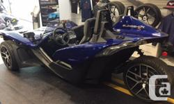 Trans Manual kms 1 2017 Polaris Slingshot SL MSRP $30999 plus freight SALE $27499 plus freight GM Ecotec LE9 2.4L DOHC engine, 173 HP @ 6200 RPM, 5 Speed Synchromesh with Reverse, 3-wheeled vehicle, street legal.